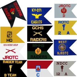 Custom Guidon Flag ROTC/JROTC (Each)