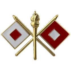 Signal Army Officer Collar Device (Pair)
