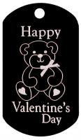 Valentine's Bear Dog Tag T004