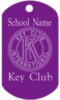 Key Club Dog Tag T094