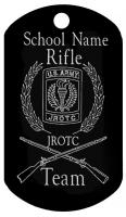 JROTC DOG TAGS T618  Custom rifle team tag