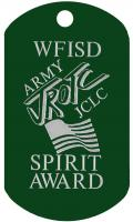Army JROTC Spirit Award Dog Tag jclc
