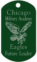 Chicago Military Academy 3 line Dog Tag T730