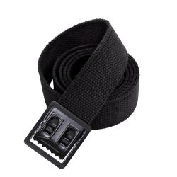 72 Inches Black Belt With Open Face Black Buckle Extra Long Unisex