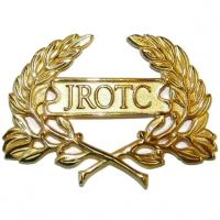 Gold Plated JROTC Wreath pin on (Each)
