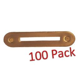 Single Ribbon Bar Mount Brass (100 pack)