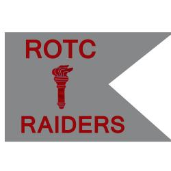 Guidon Flag ROTC With Torch And Letter RAIDERS (Each) (Allow 3 Months)