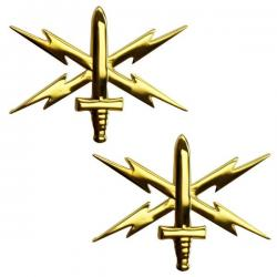Cyber Warfare Army Officer Collar Device (Pair)