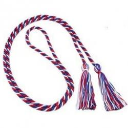 Honor Cord Single Strand Red, White, Blue