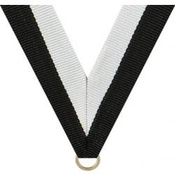 Black/White Neck Drape for Graduation Medal (EA)