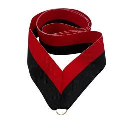 Black/Red Neck Drape for Graduation Medal (EA)
