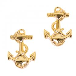 "Navy JROTC Rank - Midship 5/8"" Foulded Anchor (Pair)"