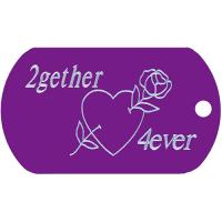 2gether 4ever Dog Tag T003 Engraved Tags together forever jewelry