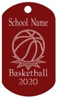 Basketball Dog Tag T055
