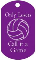 Volleyball Game Dog Tag T075