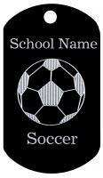 Soccer Dog Tag T077