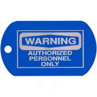 Authorized Personnel Dog Tag T158
