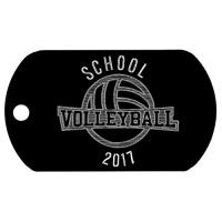 Volleyball dog tag T679